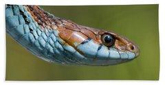 San Francisco Garter Snake Portrait Hand Towel