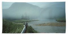 Sand Beach Fog Bath Towel by Brent L Ander