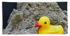 Sand Pile And Ducky Bath Towel