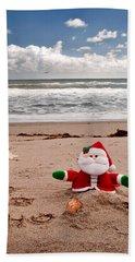 Santa At The Beach Hand Towel