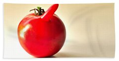 Hand Towel featuring the photograph Saucy Tomato by Sean Griffin