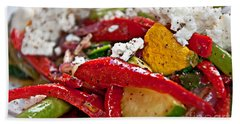 Sauteed Vegetables With Feta Cheese Art Prints Hand Towel by Valerie Garner