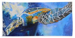 Save The Turtles Bath Towel by Warren Thompson