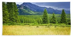 Scenic View In Canadian Rockies Hand Towel