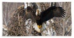Bath Towel featuring the photograph Screaming Eagle  by Randall Branham