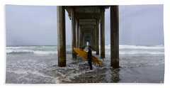 Scripps Pier Surfer 2 Hand Towel