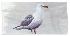 Hand Towel featuring the painting Seagull by Chriss Pagani