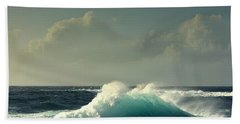 Hand Towel featuring the photograph Sennen Surf Seascape by Linsey Williams