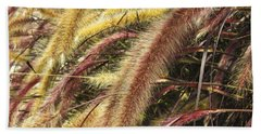 Hand Towel featuring the digital art Setaria Italica Red Jewel - Red Bristle Grass by Anne Mott