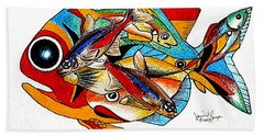 Seven Fish Bath Towel