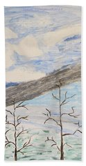 Hand Towel featuring the painting Shades Of Nature by Sonali Gangane