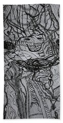 Hand Towel featuring the drawing Shango by Gloria Ssali