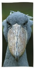 Shoebill Balaeniceps Rex Portrait Hand Towel