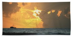 Shrimp Boast Sunrise II Bath Towel