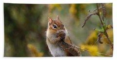 Shy Little Chipmunk Hand Towel