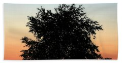 Make People Happy  Square Photograph Of Tree Silhouette Against A Colorful Summer Sky Bath Towel