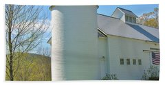 Bath Towel featuring the photograph Vermont Silo And Barn  by Sherman Perry