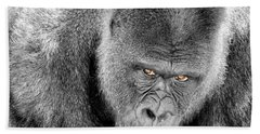 Bath Towel featuring the photograph Silverback Staredown by Jason Politte