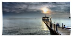 Sittin On The Dock Of The Bay Hand Towel by Edward Kreis