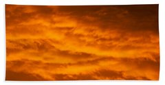 Sky Of Fire Bath Towel