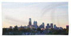 Skyline View Of Philadelphia Hand Towel by Bill Cannon