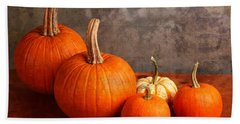 Small Decorative Pumpkins Hand Towel