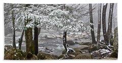 Smoky Mountain Stream Hand Towel