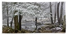 Smoky Mountain Stream Bath Towel