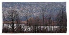 Snow Geese Rising Bath Towel