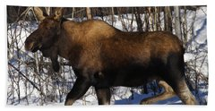 Bath Towel featuring the photograph Snow Moose by Doug Lloyd