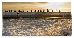 Snowy Sunrise Hand Towel