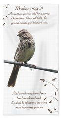 Sparrow Hand Towel by Lena Auxier
