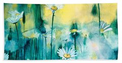 Splash Of Daisies Hand Towel by Cyndi Brewer