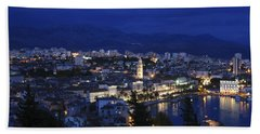 Bath Towel featuring the photograph Split Croatia by David Gleeson