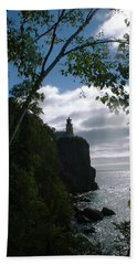 Hand Towel featuring the photograph Split Rock II by Bonfire Photography