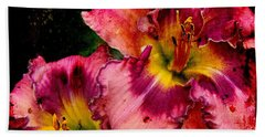 Hand Towel featuring the photograph Spring Blooms by Davandra Cribbie