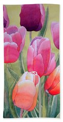 Hand Towel featuring the painting Spring by Laurel Best