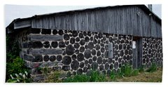 Hand Towel featuring the photograph Stacked Block Barn by Barbara McMahon