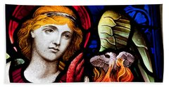 Stained Glass Angel Hand Towel