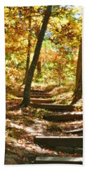 Hand Towel featuring the photograph Stairway To Heaven by Peggy Franz