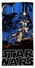 Star Wars Poster Hand Towel by George Pedro