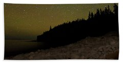 Stars Over Otter Cliffs Bath Towel by Brent L Ander