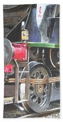 Steam Engine Bulleid Merchant Navy Pacific 30005 Study Hand Towel