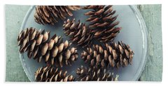 Stil Life With  Seven Pine Cones Hand Towel