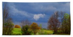 Hand Towel featuring the photograph Storm Cell by Kathryn Meyer