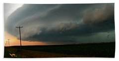 Hand Towel featuring the photograph Storm Front by Debbie Portwood