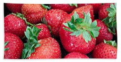 Strawberry Delight Hand Towel by Sherry Hallemeier