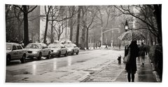 Streets Slick With Promise - Greenwich Village Hand Towel