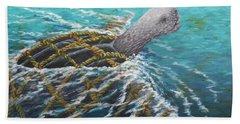 Struggle -leatherback Sea Turtle Hand Towel