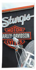 Sturgis Harley Store Hand Towel by Micah May